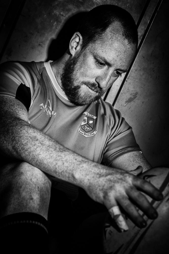 Sportportrait Christoph in schwarzweiß