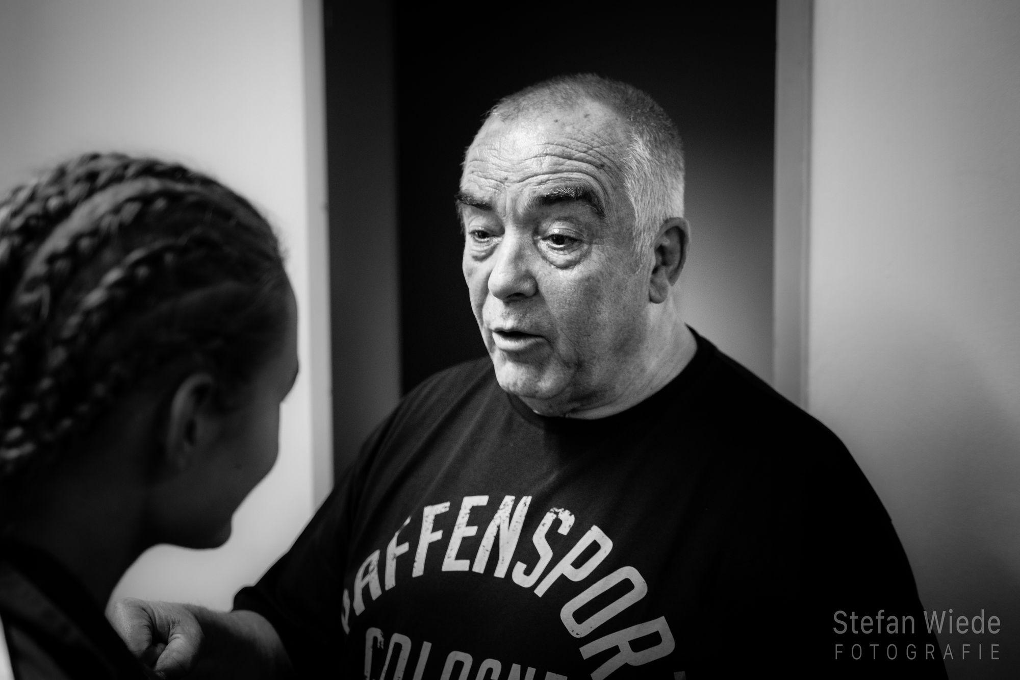 Besprechung mit dem Trainer