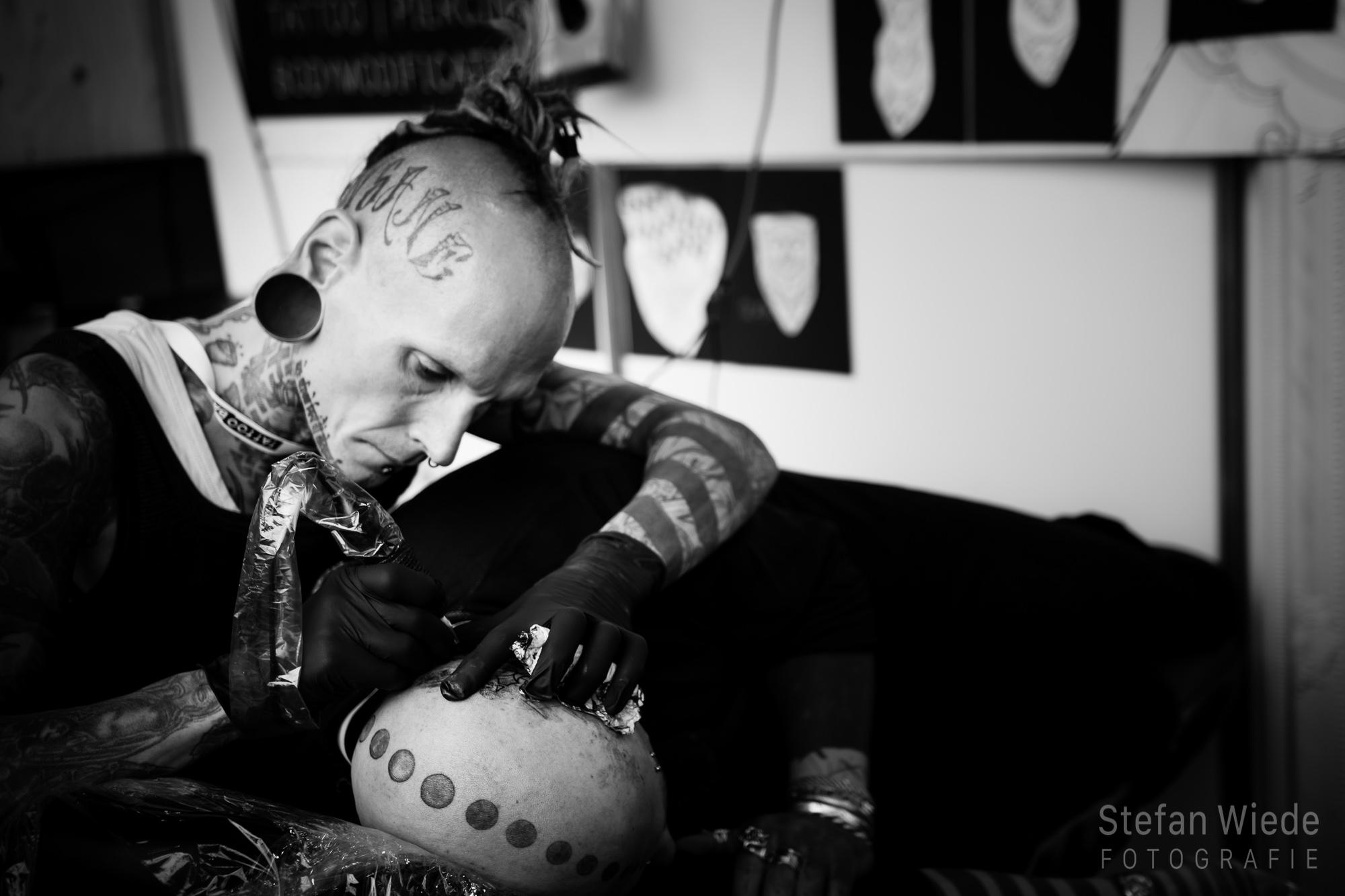 Tätowierer auf der Tattoobash Köln