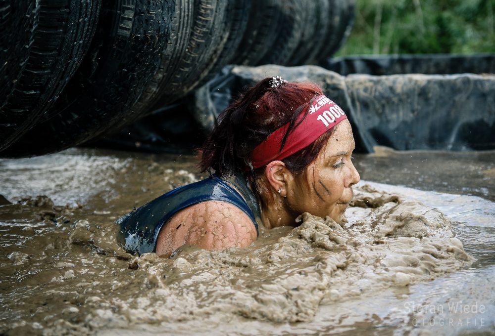 Teilnehmerin beim Muddy Angel Run 2019