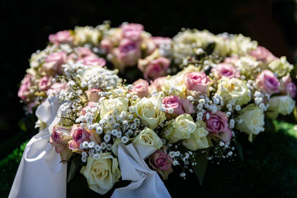 Blumenschmuck auf einer Beerdigung - Fotografie Stefan Wiede